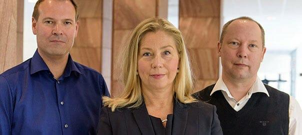 Henrik Grönberg, Anna Ulfsdotter Forssell och Jonatan Wahlberg.